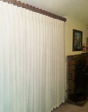 """Canton 100% Cotton Pinch Pleated Single Drape, White, 220"""" wide by 94"""" long"""