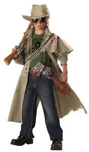 Details About Walking Dead Zombie Hunter World War Z Child Costume