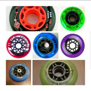 68mm-72mm-76mm-80mm-84mm-100mm-Inline-Skate-Rollerblade-Hockey-Wheels-1-4-8-pack