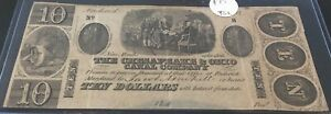 The Chesapeake & Ohio Canal Company $10 Obsolete Note!