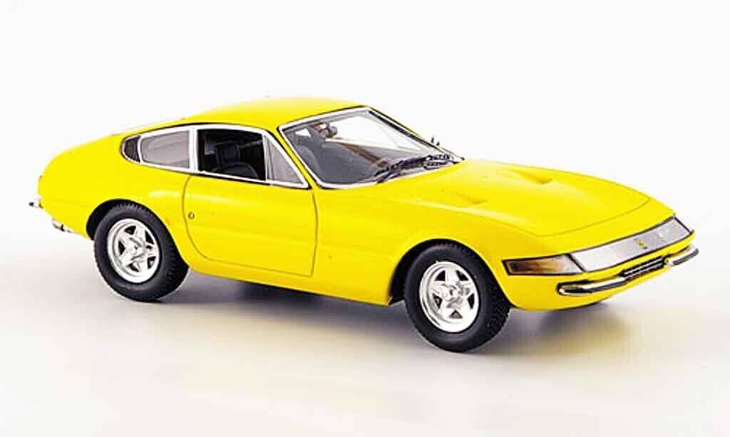 Kyosho Ferrari 365GTB 4 versión temprana (Amarillo) 1 43 Nuevo en Caja 05051Y  Nuevo en Caja