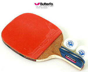 Premium Butterfly ADDOY P30 Table Tennis Racket Penhold Paddle Ping Pong
