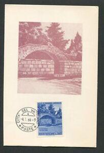 VATICAN MK 1964 HOLY LAND NAZARETH FOUNTAIN CARTE MAXIMUM CARD MC CM d7615