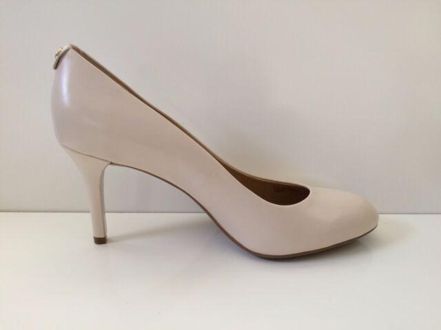 NIB MICHAEL Michael Kors MK Flex Mid Pump Vanilla Leather Shoe sz 10M