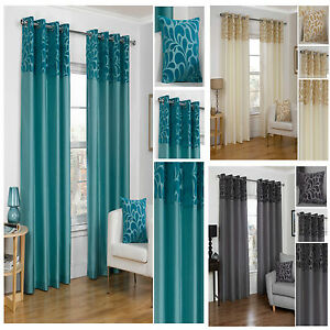 Vienna-Top-Border-Lightweight-Eyelet-Ring-Top-Lined-Curtain-Pairs-TO-CLEAR
