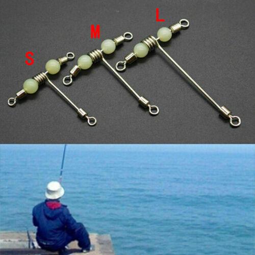 Fishing 3 Way Rolling Swivel T-shape Cross-line Mini L with Luminous Q0L6 N5E2