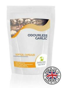 Odourless-Garlic-1000mg-Oil-Extract-500-Capsules-Healthy-Mood