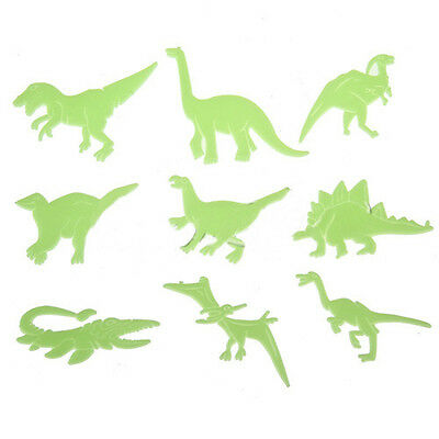 MJ Fun Glow in the Dark Set of 9 Dinosaurs Plastic Shape Ceilings Walls Stickers