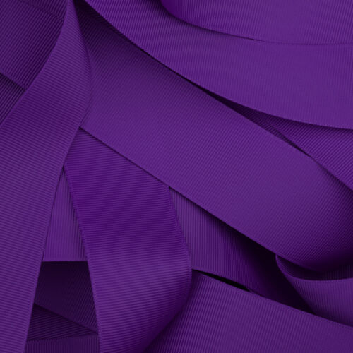 """Grosgrain Ribbon 1 3 or 5 Metre Cut of 25mm in 64 Plain Solid Colours 1/"""""""