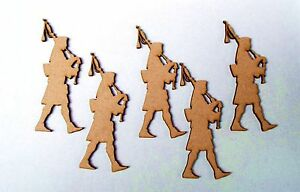 5-x-100mm-high-Scottish-piper-in-MDF-PLAQUE-Embelishment-DOOR-FINGER-PLATE-Blank