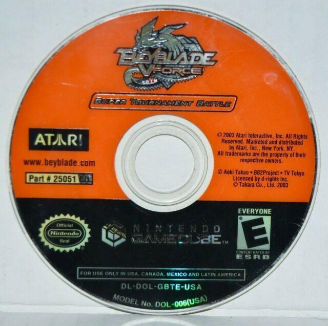 Beyblade: V Force -- Super Tournament Battle (Nintendo GameCube, 2003) MINT
