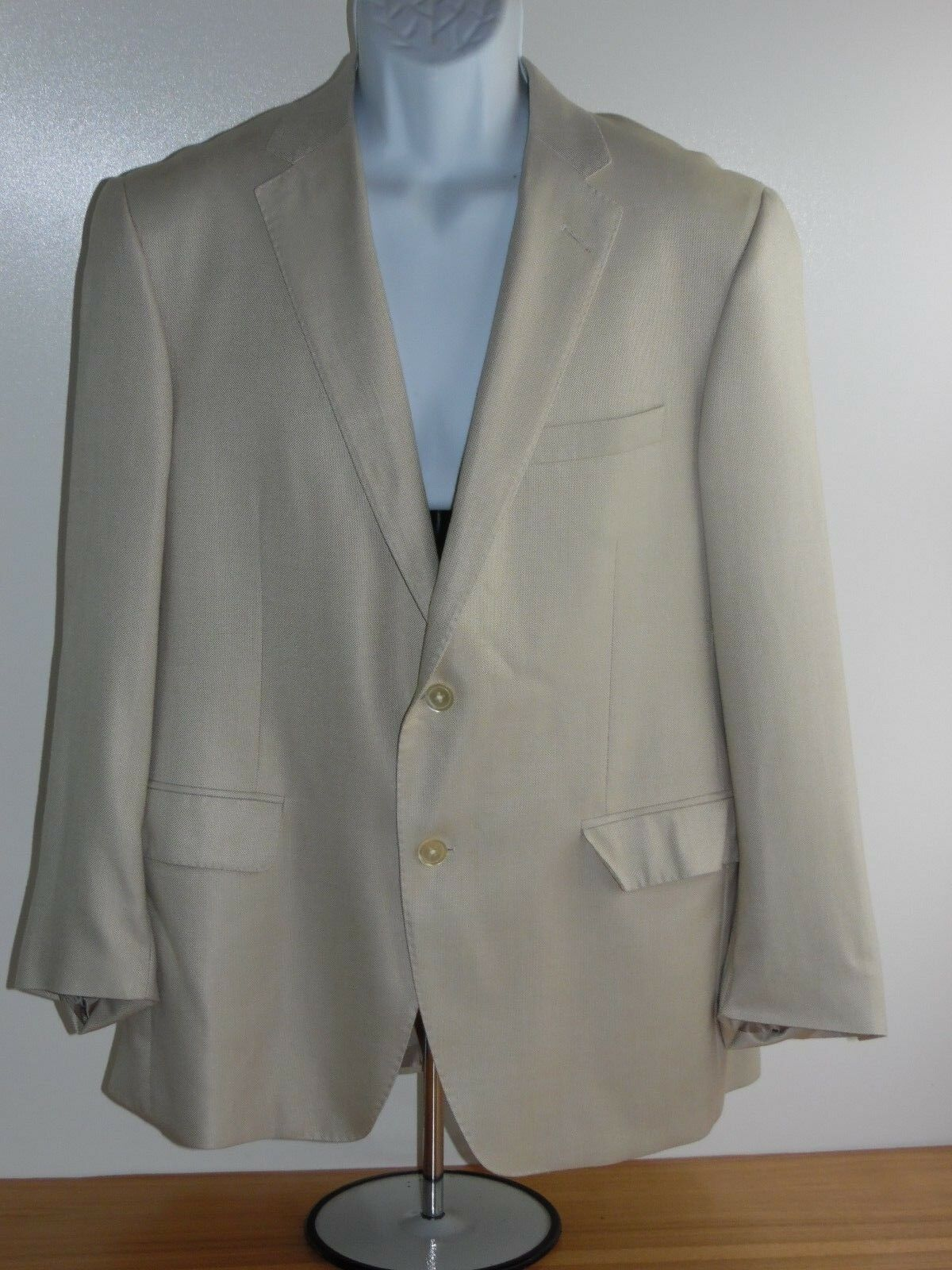 JP Tilford Samuelsohn Navy Sport Coat 42S  SB Justin bamboo rayon