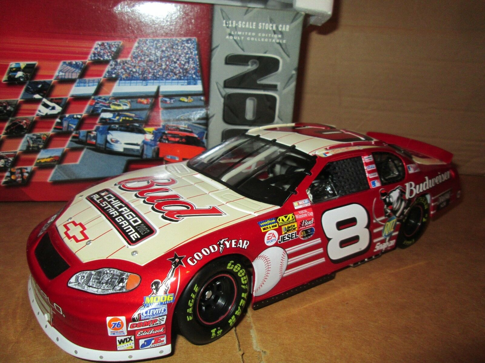 Budweiser Dale Ernhardt Jr Chevy Monte Carlo Action 1 18 2003 All Star