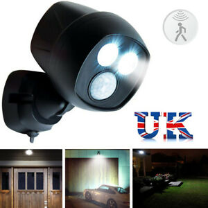 360° Battery Power Motion Sensor Security LED Light Garden Outdoor Indoor
