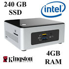 Intel NUC desktop Mini PC / Dual Core / 4GB DDR3 RAM / 240GB SSD / Windows 10
