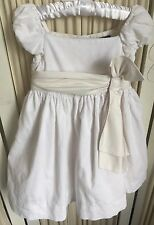 BN Ralph Lauren Girls 18M White Corduroy Special Occasion Dress & Bloomers