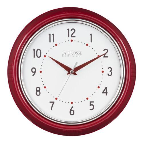 "404-3624 La Crosse Clock Company 9.5/"" Plastic Diner Analog Wall Clock"