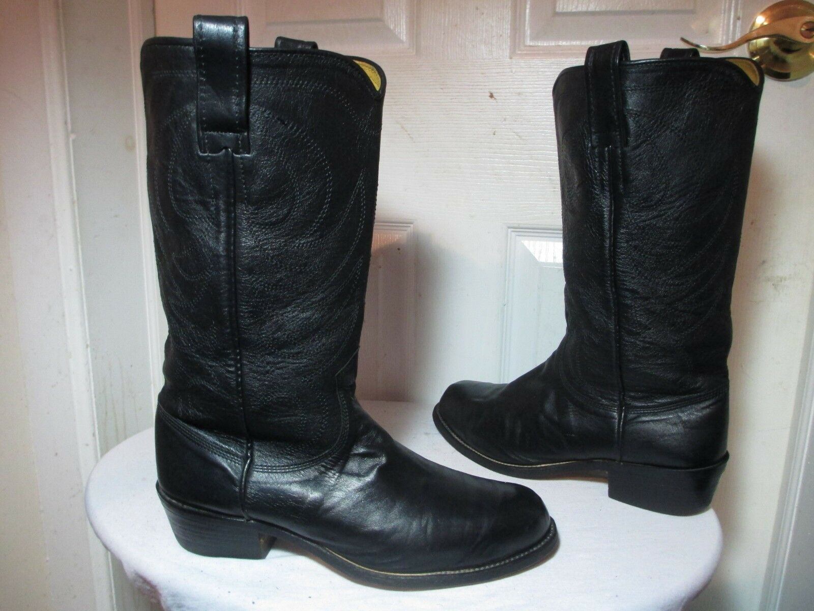 R Williams M Williams R Botas Ejecutivo De Cuero Genuino Negro Botas De Vaquero Tamaño G 10 700 ae4e1a