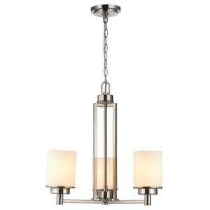 Light Brushed Nickel Chandelier