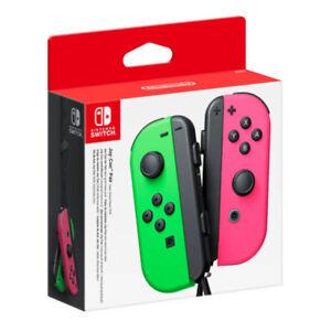 Nintendo Switch Joy-Con Neon Green & Pink Controller Set NEW