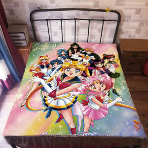 Neu Sailor Moon Anime Tagesdecke Sheet Bettwäsche Quilt Cover