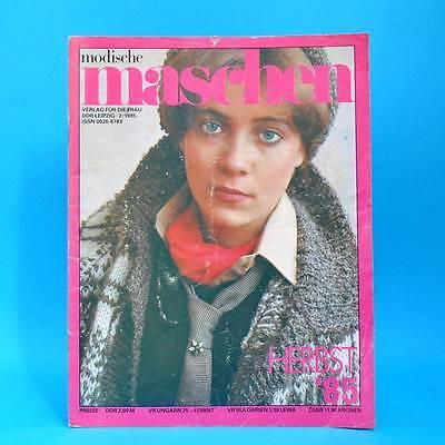 Genossenschaft Modische Maschen 2 Von 1985 | Schnittmuster Mode Verlag Für Die Frau | Ddr X Angenehm Zu Schmecken