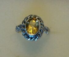 BALI LEGACY COLLECTION BRAZILIAN CITRINE 925 STERLING SILVER RING (SIZE 5)