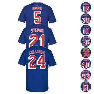 New-York-Rangers-NHL-Reebok-Player-Name-amp-Number-Premier-Jersey-T-Shirt-Men-039-s
