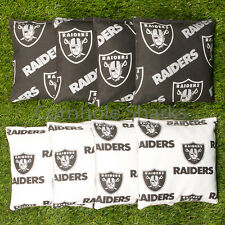 Cornhole Bean Bags Set of 8 ACA Regulation Bags Oakland Raiders Free Shipping!