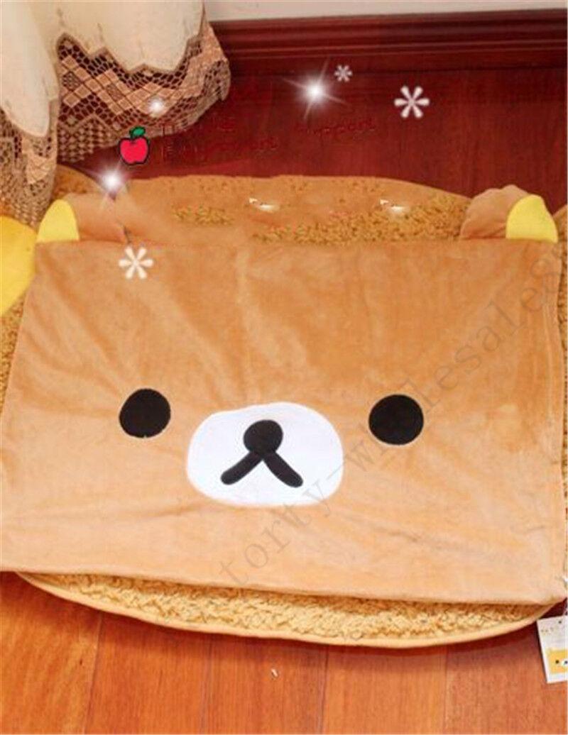2020 Rilakkuma Relax Bear San-X Lovely Plush Brown Pillow Case 63*43cm Top Sale