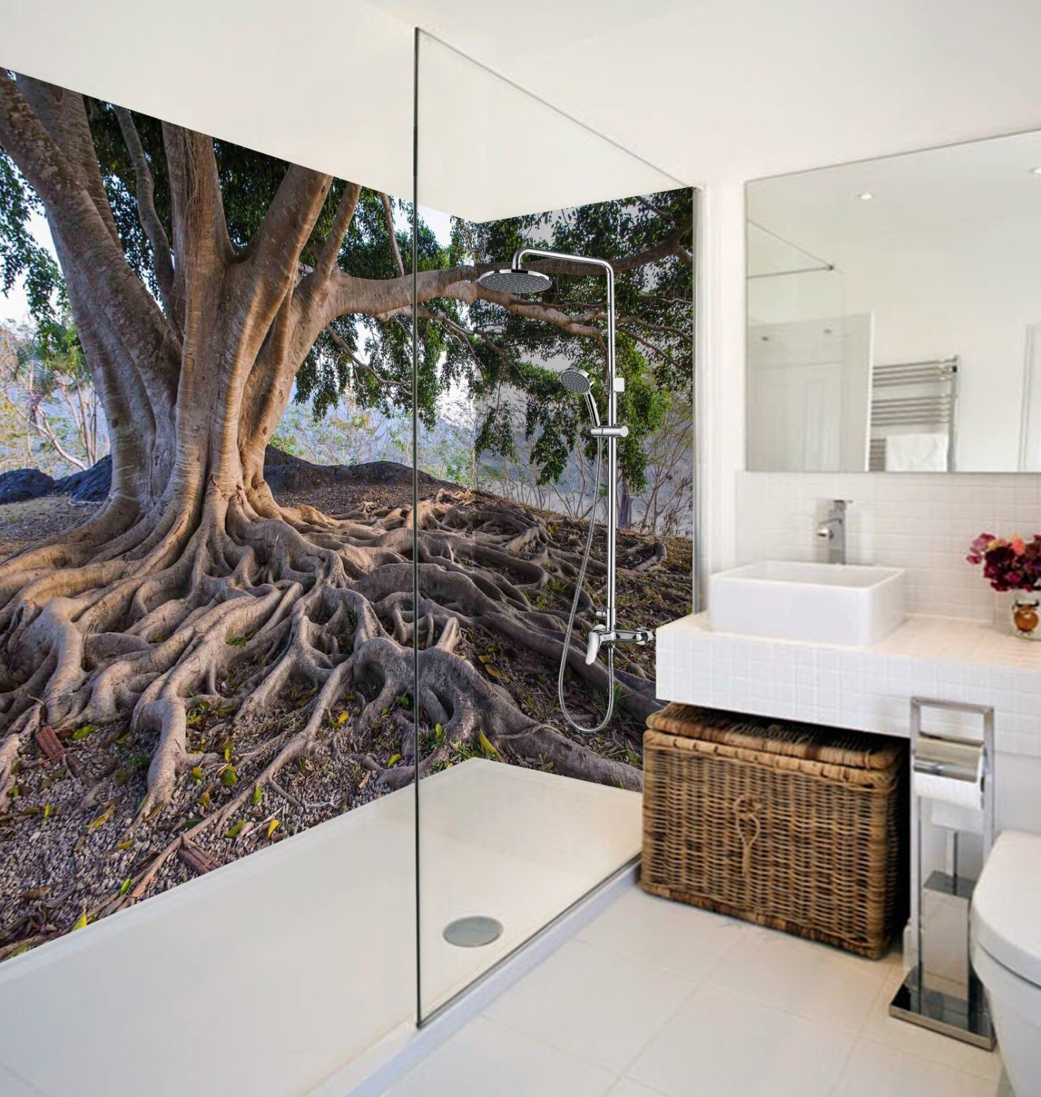 3D Tree root leaves 634 WallPaper Bathroom Print Decal Wall Deco AJ WALLPAPER UK