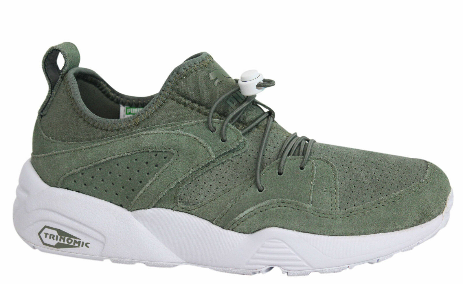 Puma Trinomic Blaze of Glory Soft Mens Green Trainers Shoes 360101 10 D37