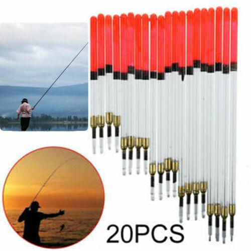 20pcs Clear Waggler Fishing Floats Mixed Loaded Carp Coarse Floats Tackle JOR