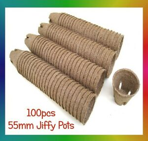 Jiffy-Pots-55mm-Round-x-100pcs-Propagation-Seedling-Herbs-Veggie