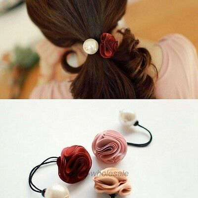 Women's Hair Accessories Rose & Pearl Hair Flower Headwear Hair Band