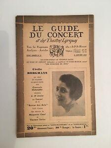 El-Guia-de-La-Concierto-Y-Las-Teatro-Letra-Cecile-Borghans-N-15-1932