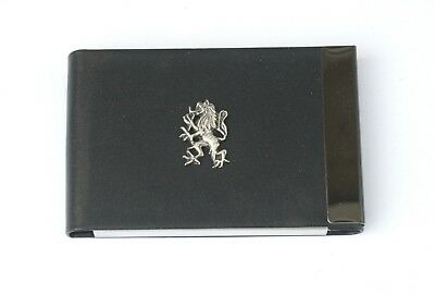 Rampant Lion Black Pu And Metal Business Or Credit Card Holder Gift 294