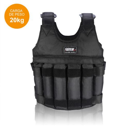 Adjustable Weight Vest 44//110LB 20//50KG Workout Exercise Training Sand Clothing