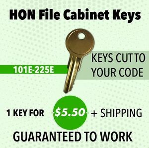 Best Quality Large Selection HON File Cabinet Key 168E Fast Delivery