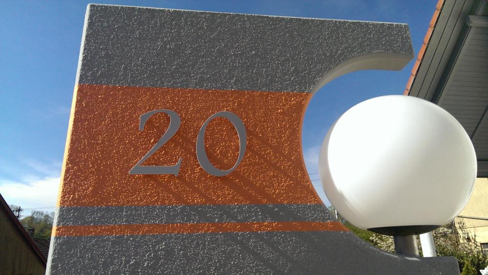 Hausnummer Hochglanz Hellgrau 7H32 Acryl Acryl Acryl - Türnummer - Postnummer - Plexiglas | Lebendige Form  | Angenehmes Aussehen  | Rabatt  8997ab