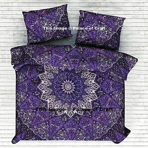 Black and White KING Size Indian Mandala Duvet Cover Set Boho Quilt Cover Set