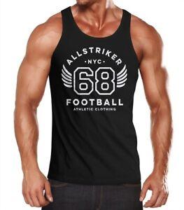Herren-Tank-Top-College-Design-Schriftzug-NYC-68-Football-Athletic-Clothing