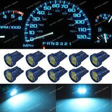 10x Ice Blue T10 168 W5W LED Gauge Car instrument Panel Dashboard Light Bulb 1