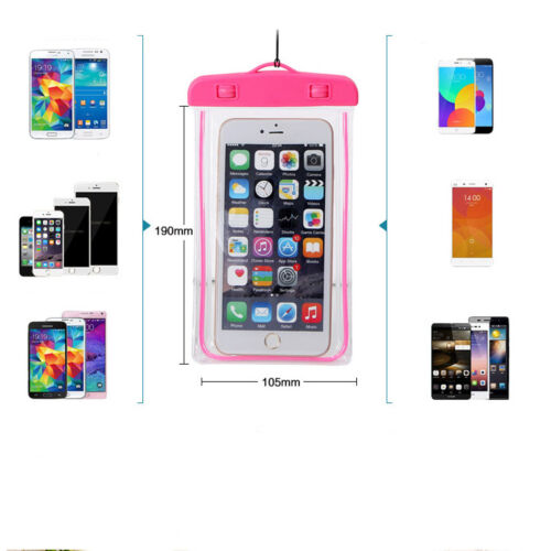 Luminous Waterproof Underwater Case Cover Bag Dry Pouch Pocket For Mobile Phone
