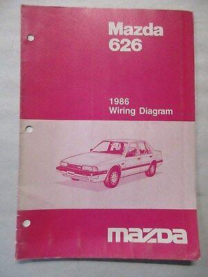 1986 Mazda 626 Wiring Diagram Service Manual Ebay