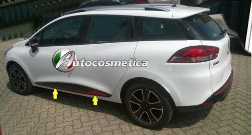 SET 4 PORTE Cornici con Base In Acciaio di Colore Rosso RENAULT CLIO IV Sportour