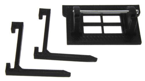 Schwarz Palettengabel für Siku Control 32 mit Frontlader