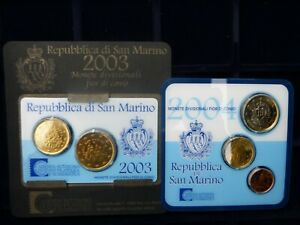 5 Coin Card St Marin 2003 2004 2005 2006 2010