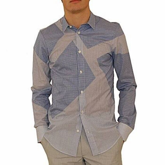 Alexander McQueen camicia intarsi, plaid and striped shirt