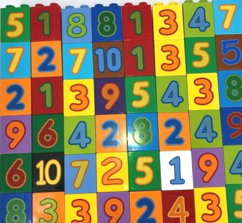 Lego Duplo 20 x Zahlensteine 1-10 Motivsteine Zahlen Lernspiel Bausteine //L154